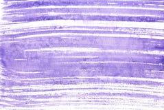 Bande di porpora del fondo dell'acquerello Fotografia Stock
