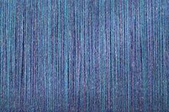 Bande di verde blu della lana di tessitura Immagini Stock Libere da Diritti