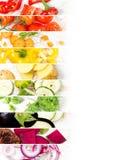 Bande di verdure della miscela Immagini Stock