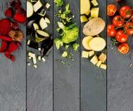 Bande di verdure della miscela Fotografie Stock