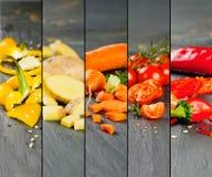 Bande di verdure della miscela Fotografia Stock