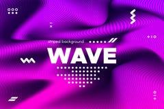 bande di Wave ed ondulazione distorte 3d di superficie illustrazione di stock