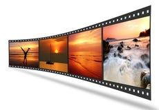 bande du film 3D avec les illustrations gentilles Images libres de droits