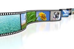 bande du film 3D Photographie stock libre de droits