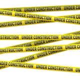 Bande en construction jaune de danger illustration libre de droits