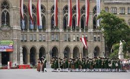Bande en laiton à Vienne images stock