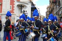 Bande en laiton chez Santa Semana, Séville Image libre de droits