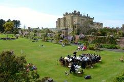 Bande en laiton jouant au château de Culzean, Ayrshire Images stock