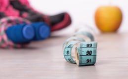 Bande et équipement de sport de mesure Photo stock