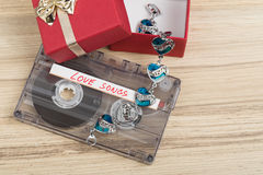 Bande et bracelet de cassette sonore Photographie stock libre de droits