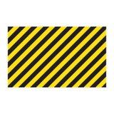 Bande gialle e nere rettangolari a strisce d'avvertimento del fondo, sulla diagonale, un avvertimento da stare attento - il peric illustrazione di stock