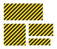 Bande gialle e nere rettangolari a strisce d'avvertimento del fondo, sulla diagonale, un avvertimento da stare attento - il peric royalty illustrazione gratis