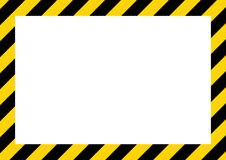 Bande gialle e nere sul segnale di pericolo diagonale e rettangolare, simbolo, illustrazione illustrazione vettoriale