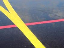 Bande gialle e rosse fotografie stock