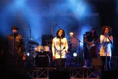 Bande incognito au festival de jazz de Vicence Photo libre de droits