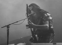 Bande métallique noire du concert 2016 vivants d'Abbath Photos libres de droits