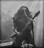 Bande métallique noire du concert 2016 vivants d'Abbath Photo libre de droits