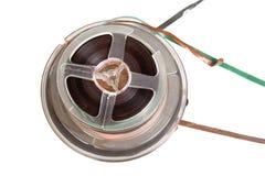 Bande magetic audio de bobine, d'isolement image stock
