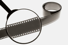 Bande magnifiée de film Photos libres de droits