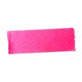 Bande mate rose de tissu Photos stock