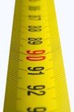 Bande-mesure jaune Images libres de droits