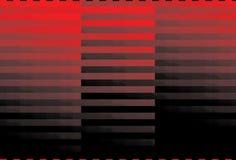Bande nere rosse illustrazione vettoriale