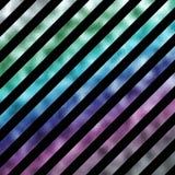 Bande olografiche della stagnola metallica porpora verde blu del Faux illustrazione di stock
