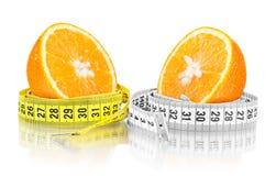 bande orange de mesure photographie stock