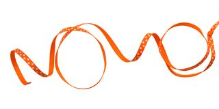 bande orange enroulée illustration de vecteur