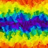 Bande orizzontali macchiate di soectrum dell'arcobaleno di colore pieno del fondo di struttura del modello - arte moderna della p illustrazione di stock