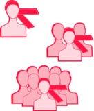 Bande rose Image libre de droits