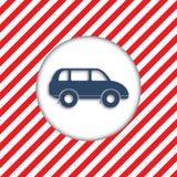 Bande rosse e bianche diagonali astratte Il movimento pericoloso Illustrazione di vettore Immagini Stock