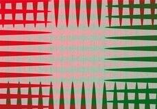 Bande rosse e verdi illustrazione di stock