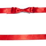 Bande rouge avec la proue sur le blanc Photographie stock