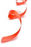 Bande rouge de satin Photos libres de droits