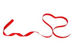 Bande rouge en forme de coeur de Valentine Images stock