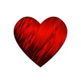 Bande rouge enroulée autour d'un coeur - Valentine illustration libre de droits