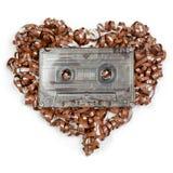 Bande sonore en forme de coeur Images stock