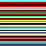 Bande variopinte astratte blu, fondo rosso, giallo, verde illustrazione vettoriale