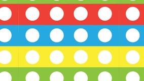 Bande variopinte astratte moderne semplici e modello di punti bianco Fotografia Stock Libera da Diritti