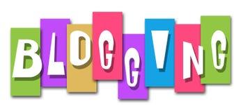 Bande variopinte di blogging Immagine Stock Libera da Diritti
