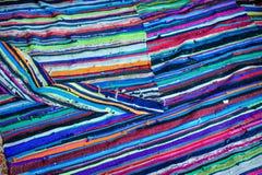 Bande variopinte sul tessuto di tela Fotografia Stock Libera da Diritti