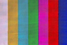 Bande variopinte sullo schermo dell'affissione a cristalli liquidi Fotografie Stock Libere da Diritti