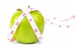 Bande verte de pomme et de blanc Photo stock