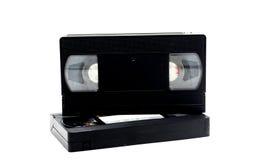 Bande VHS de casset de VDO dans 80s sur le blanc Image stock