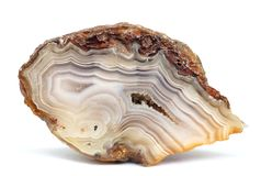 Banded Agate specimen stock photos