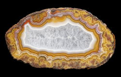 A banded Agate specimen Royalty Free Stock Photography