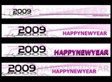 Bandeira 2009 do ano novo Foto de Stock