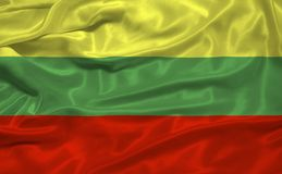 Bandeira 3 de Lithuania Fotografia de Stock