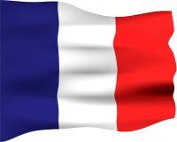 bandeira 3D de France Imagens de Stock Royalty Free